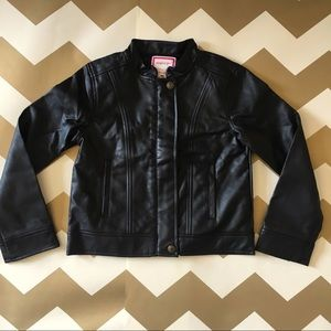 Gymboree faux leather jacket